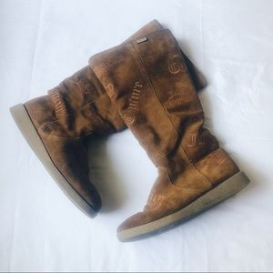 Juicy Couture Suede Ugg Style Boots